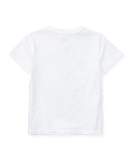 Ralph Lauren Childrenswear Short-Sleeve Jersey V-Neck T-Shirt, Size 4-7