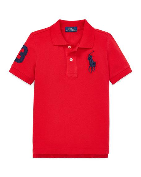 Ralph Lauren Childrenswear Big Pony Mesh Knit Polo, Size 4-7