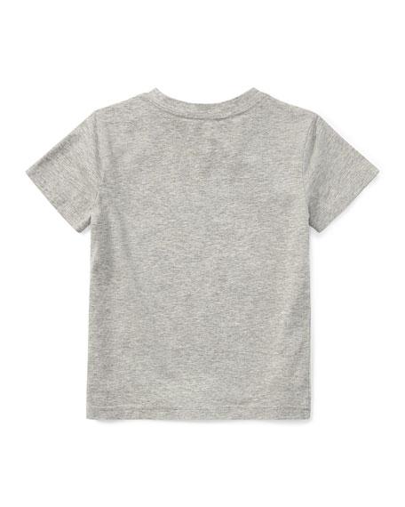Ralph Lauren Childrenswear Short-Sleeve Jersey V-Neck T-Shirt, Size 2-3