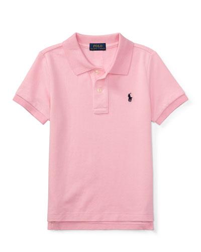 Short-Sleeve Logo Embroidery Polo Shirt, Size 4-7