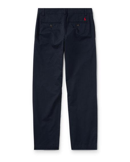 Ralph Lauren Childrenswear Chino Flat Front Straight Leg Pants, Size 8-14