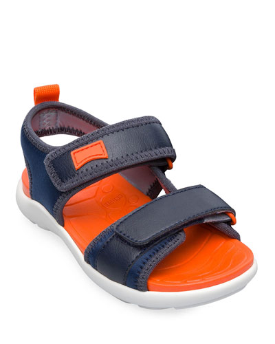 Kid's Faux Leather Grip-Strap Sandals  Toddler/Kids