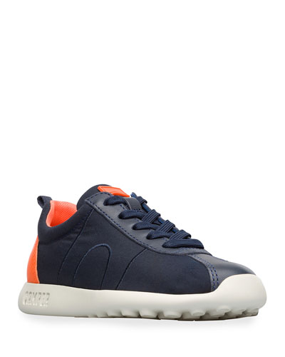 Kid's Leather Trim Sneakers  Toddler/Kids