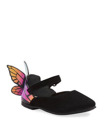 Chiara Suede Mirrored Butterfly Mary Jane Flats  Baby/Toddler