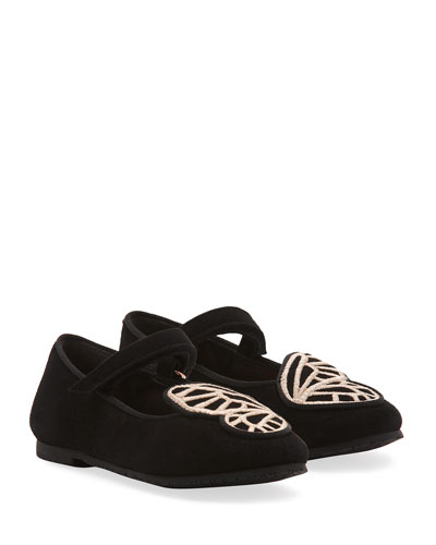 Butterfly Embroidered Suede Flats  Baby/Toddler