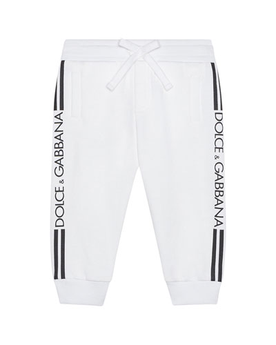 Boy's Logo Sides Jogger Pants, Size 6-24 Months