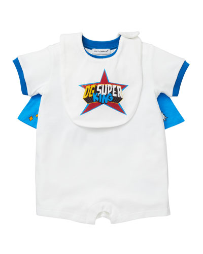 DG Super King Graphic Playsuit w/ Bib  Size 3-24 Months
