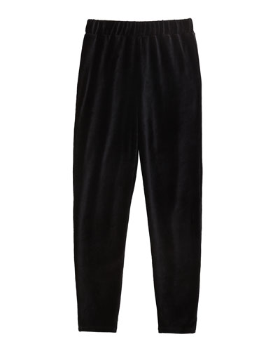 Girl's Velour Jogger Pants  Size 7-14