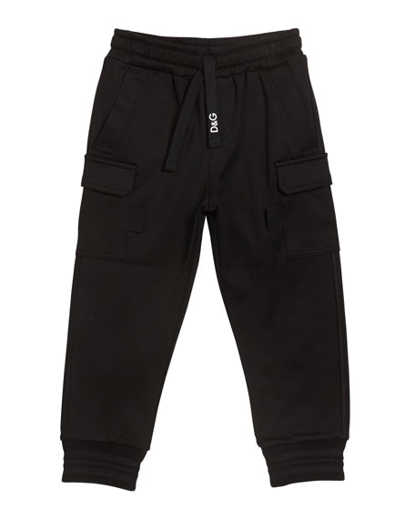 Dolce & Gabbana Boy's Jogger Sweatpants with Side Pockets, Size 8-12