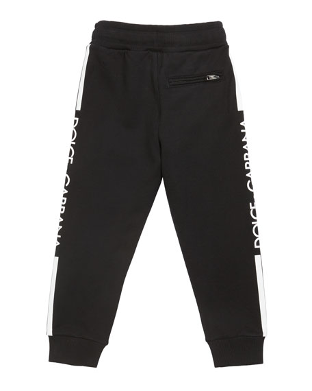 Dolce & Gabbana Boy's Logo Sides Jogger Pants, Size 8-12