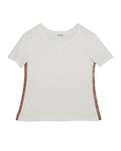 Cotton Slub Short-Sleeve Tee  Size 7-14