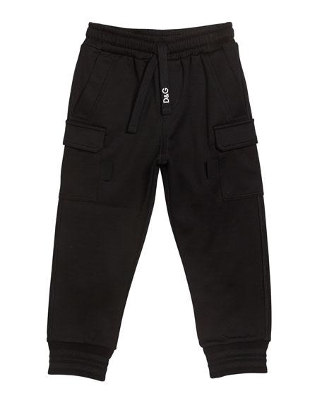 Dolce & Gabbana Boy's Jogger Sweatpants with Side Pockets, Size 4-6