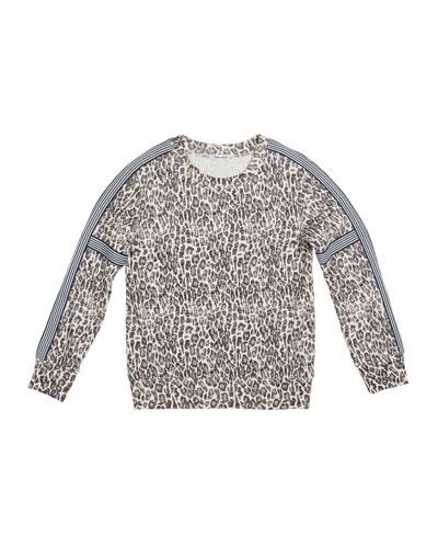 Leopard-Print Sweatshirt  Size 7-14