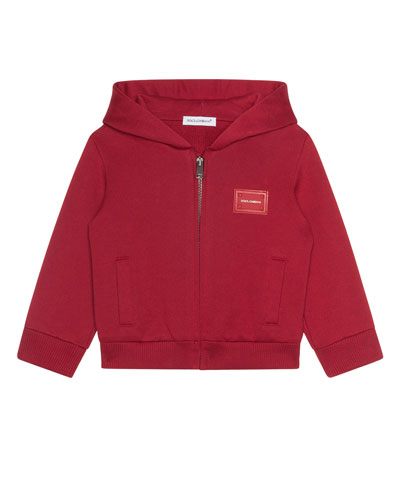 Zip-Up Hooded Jacket w/ Logo Patch  Size 12-30 Months