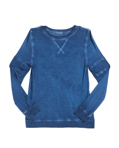 Girl's Oil Wash Jersey Top  Size 7-14