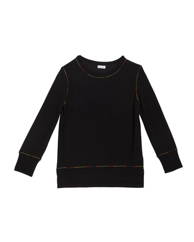 Girl's Rainbow Stitch Shirt, Size 7-14