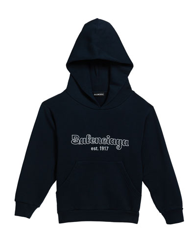 Boy's Logo Embroidered Hoodie  Size 2-10