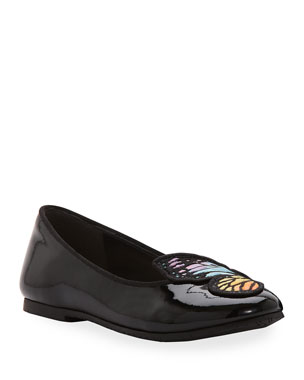 6883629da Sophia Webster Bibi Butterfly Patent Leather Flats