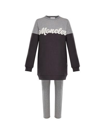 Two-Tone Logo Sweater w/ Leggings  Size 4-6