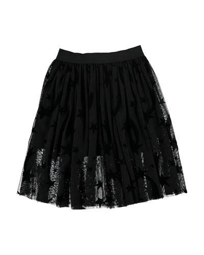 Girl's Stars Tulle Skirt  Size 4-14
