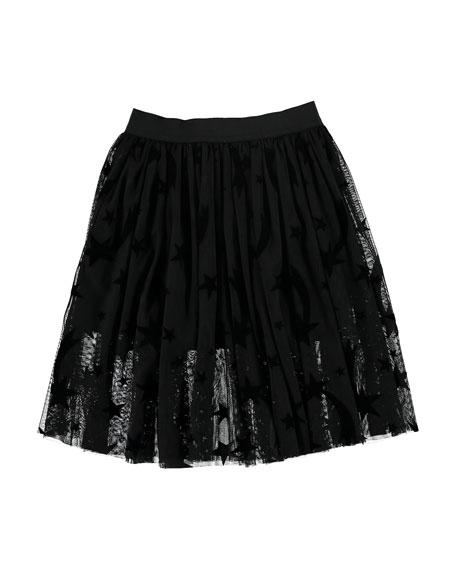 Stella McCartney Kids Girl's Stars Tulle Skirt, Size 4-14