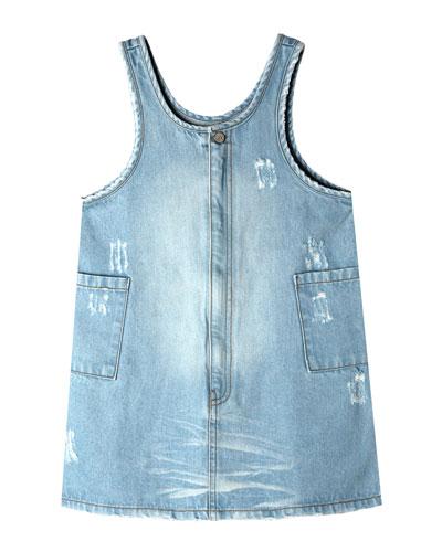 Becca Distressed Denim Dress  Size 2-10