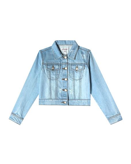 Art & Eden Nalia Distressed Denim Jacket, Size 2-10
