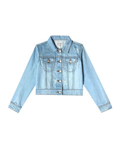 Mini Nalia Distressed Denim Jacket  Size 6-24 Months