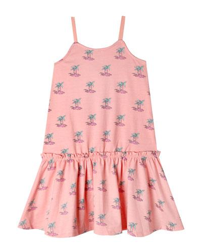 Anita Palm Tree Sleeveless Dress  Size 2-10