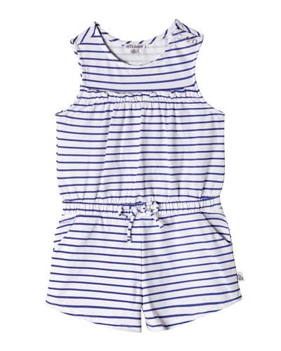 Nelli Striped Sleeveless Romper  Size 2-10