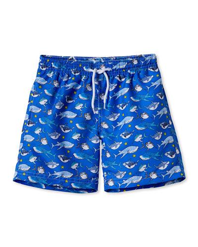 Shark Swim Trunks, Toddler Boy