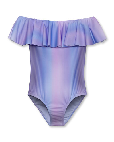Pastel Ombre One-Piece Swimsuit, Toddler Girl
