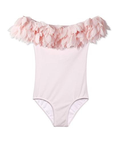 Petal One-Piece Swimsuit, Toddler Girl