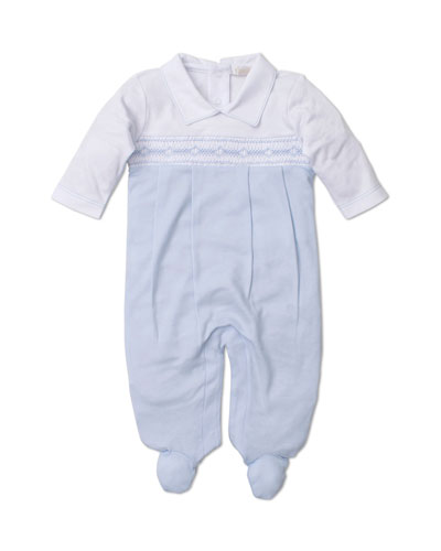Fall Medley Pima Smocked Footie Playsuit  Size Newborn-6 Months