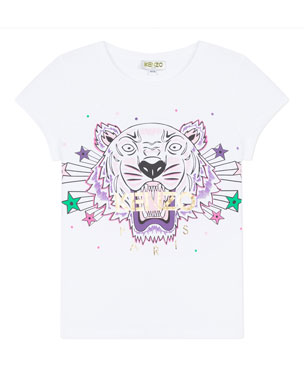 4f1d0017c57d9 Kenzo Tiger & Stars Graphic Short-Sleeve Tee, Size 2-6