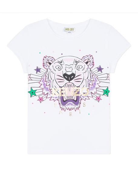 Kenzo Tiger & Stars Graphic Short-Sleeve Tee, Size 2-6