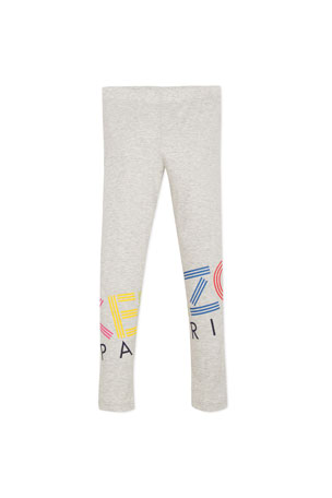 Kenzo Multicolored Logo Print Leggings, Size 8-12