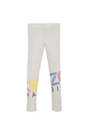Kenzo Multicolored Logo Print Leggings, Size 8-12