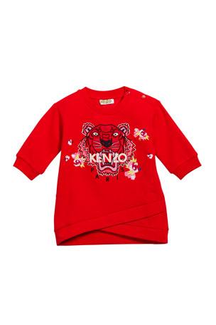Kenzo Tiger & Flower Sweatshirt Dress, Size 6-18 Months