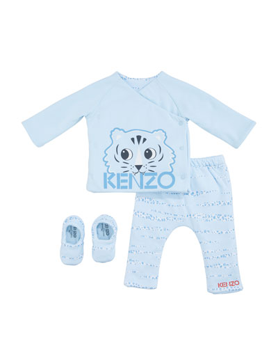 Boy's 3-Piece Reversible Pajama Set  Size 3-18 Months