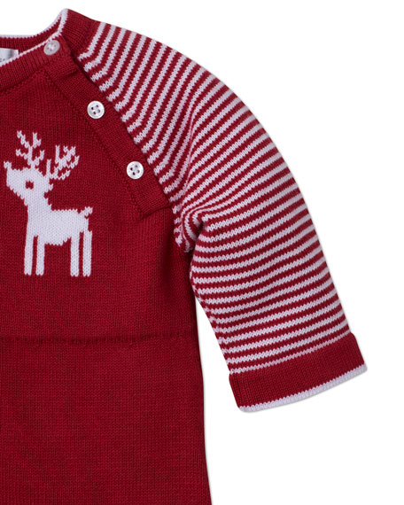 Kissy Kissy Red Reindeer Knit Coverall, Size 3-18 Months