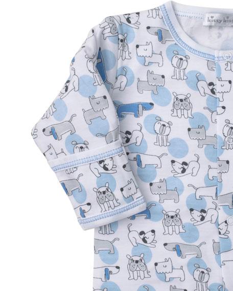 Kissy Kissy Polka Dot Pups Pima Footie Playsuit, Size Newborn-9 Months