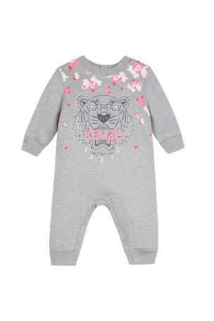 Kenzo Tiger & Flower Graphic Coverall, Size 6-18 Months