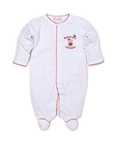 Baby's First Christmas Pima Footie Playsuit  Size Newborn-9 Months