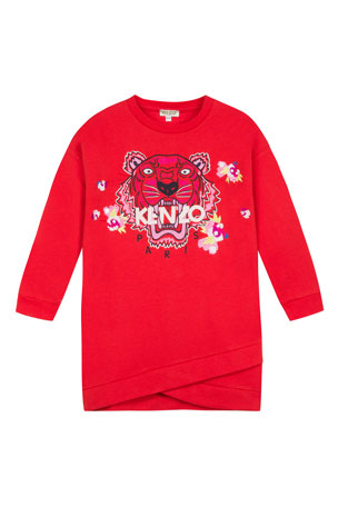 Kenzo Tiger & Flower Sweatshirt Dress, Size 2-6