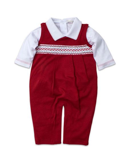 Kissy Kissy Holiday Overalls & Bodysuit Set, Size 3-18 Months