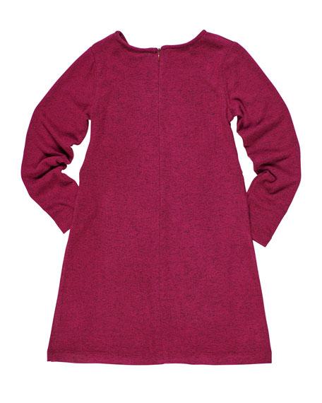 Florence Eiseman Heather Knit Tie Front Dress, Size 7-14