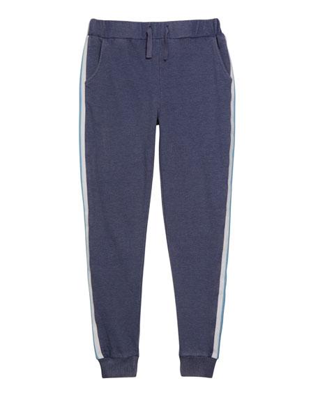 Design History Girls Girl's Varsity Striped Jogger Pants, Size S-XL