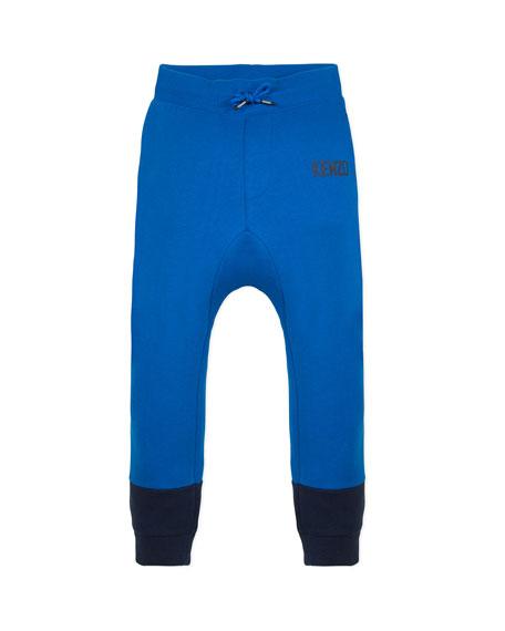 Kenzo Boy's Two-Tone Sweatpants w/ Logo Taping, Size 2-6