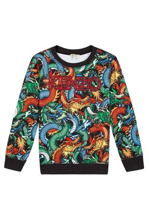 Kenzo Dragon Print Sweatshirt, Size 2-6